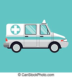 ambulance emergency transport help vector illustration eps...