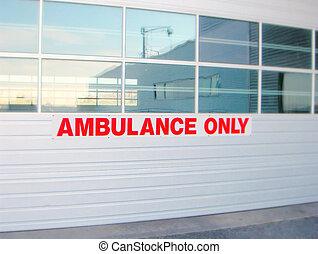 Ambulance Entry - Abulance Entry at a hospital Soft focus...