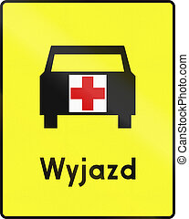 Ambulance Exit In Poland