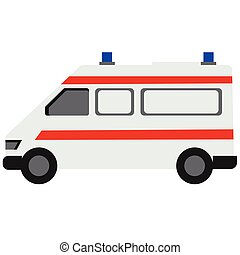 Ambulance flat illustration
