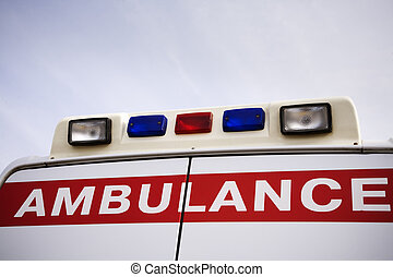 ambulance - focus point on center of photo