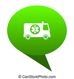 ambulance green bubble icon