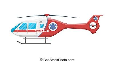 Ambulance helicopter Medical evacuation helicopter -...