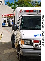 ambulance, hos, nødsituation