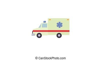 Ambulance icon animation best object on white background