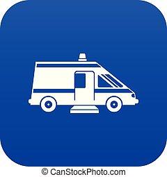 Ambulance icon digital blue