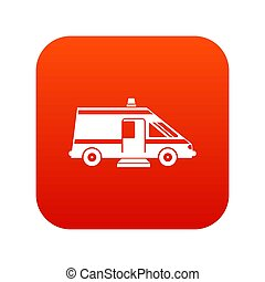 Ambulance icon digital red
