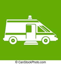 Ambulance icon green