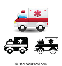 ambulance icon - icons vector