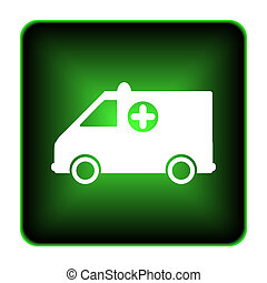 Ambulance icon. Internet button on white background.