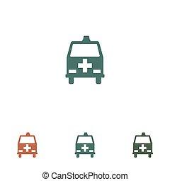 ambulance icon isolated on white background