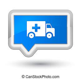 Ambulance icon prime cyan blue banner button