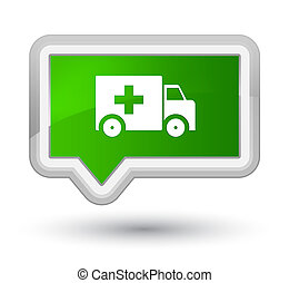 Ambulance icon prime green banner button