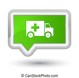 Ambulance icon prime soft green banner button