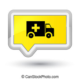 Ambulance icon prime yellow banner button