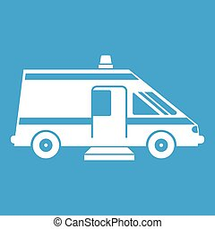 Ambulance icon white