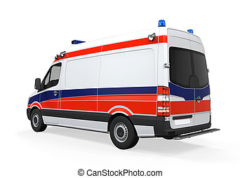 Ambulance Isolated