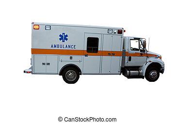 Ambulance isolated on white background