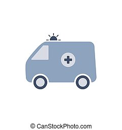 Ambulance. Medical icon. Isolated on white. Vector