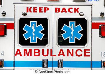 ambulance, nødsituation, begreb