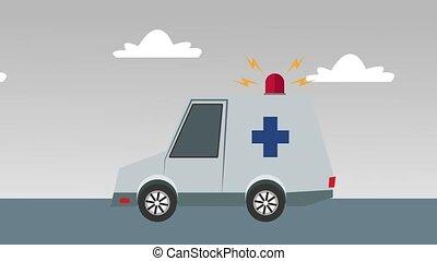 Ambulance on emergency HD animation - Ambulance on emergency...