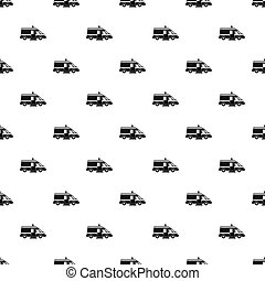 Ambulance pattern, simple style