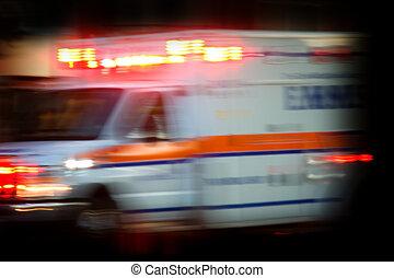 Ambulance rushing to scene of accident