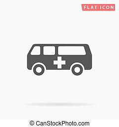 Ambulance simple flat icon