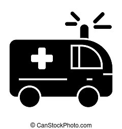Ambulance solid icon. Medical car vector illustration isolated on white. Emergency auto glyph style design, designed for web and app. Eps 10.
