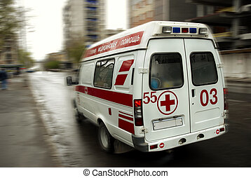 ambulance - special motion blur and toned photo f/x, (no TM ...