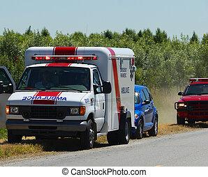 Ambulance  - ambulance at roadside accident