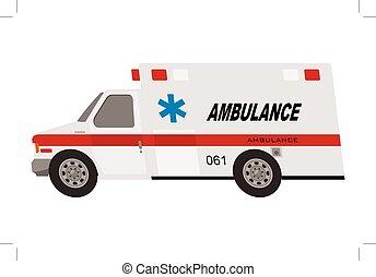 ambulance truck isolated