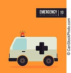ambulance, véhicule secours