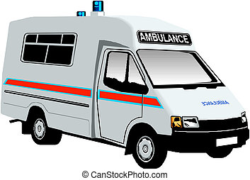 Ambulance van vector illustration