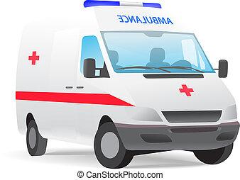Ambulance van vector illustration isolated on white