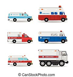 Ambulance vector car - Vector modern creative flat design...