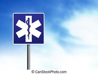 ambulance, vej underskriv