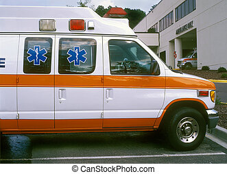 ambulances, à, hôpital