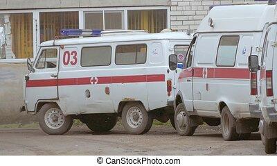 ambulances slow motion video - ambulances are at home slow...