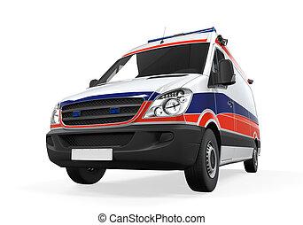 ambulancia, aislado