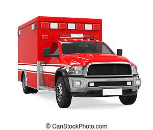 ambulancia, emergencia, camión de fuego, aislado