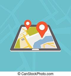 ambulant, navigation, application., gps