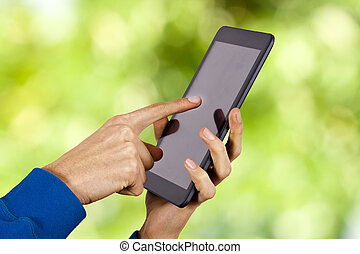ambulant, tablet, hænder