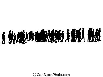 ambulante, cinco, calle pedestre
