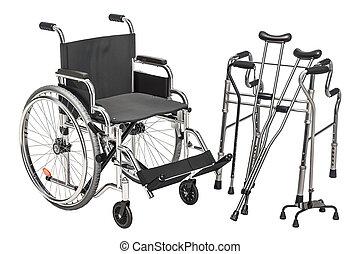 ambulante, sílla de ruedas, marco, interpretación, muletas, 3d