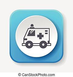 ambulanza, icona