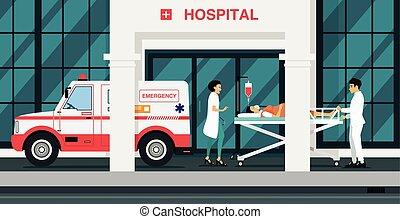 ambulanze, preso, ferito