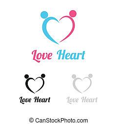 ame coração, logotipo