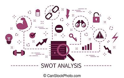ameaças, concept., fraquezas, análise, strengths, swot