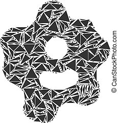 ameba, collage, od, triangle